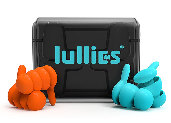 Lullies Ear Plugs - 2 pairs (SkyBlue and Volcano)