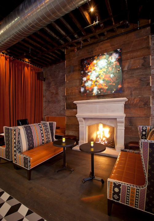 Igby's cozy fireplace