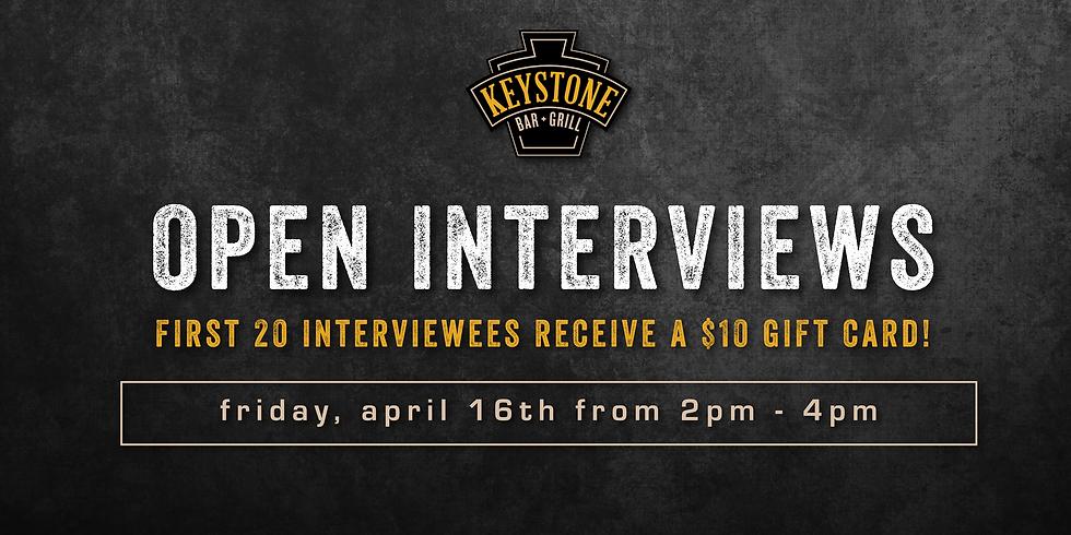 Open Interviews at Keystone Covington