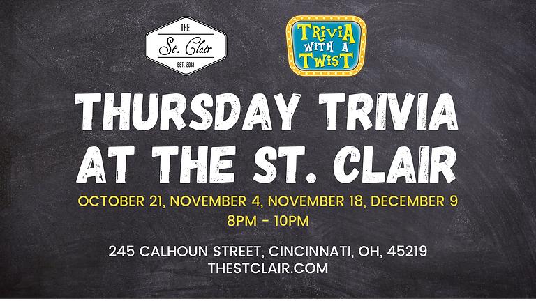 Thursday Trivia at The St. Clair