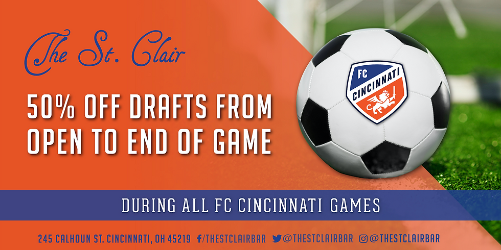 FC Cincy Game Day Specials