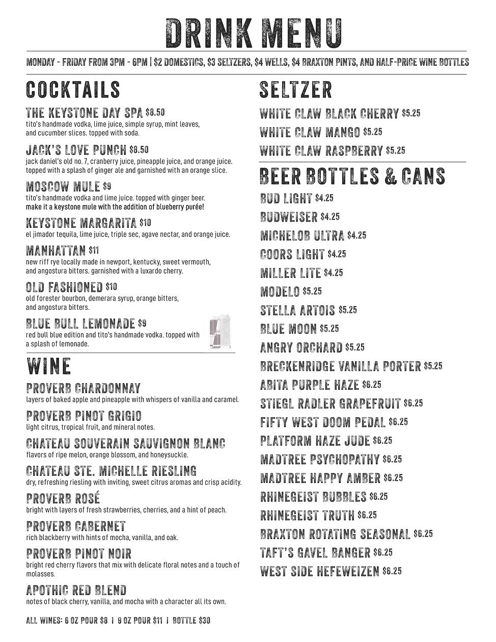 Keystone Clifton_Drink Menu_4-12-21.png