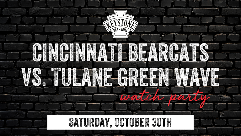 UC Bearcats vs. Tulane Green Wave Watch Party