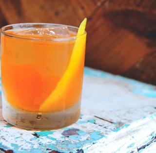 rhubarbarella cocktail