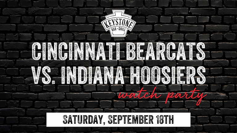 UC Bearcats vs. Indiana Hoosiers Watch Party
