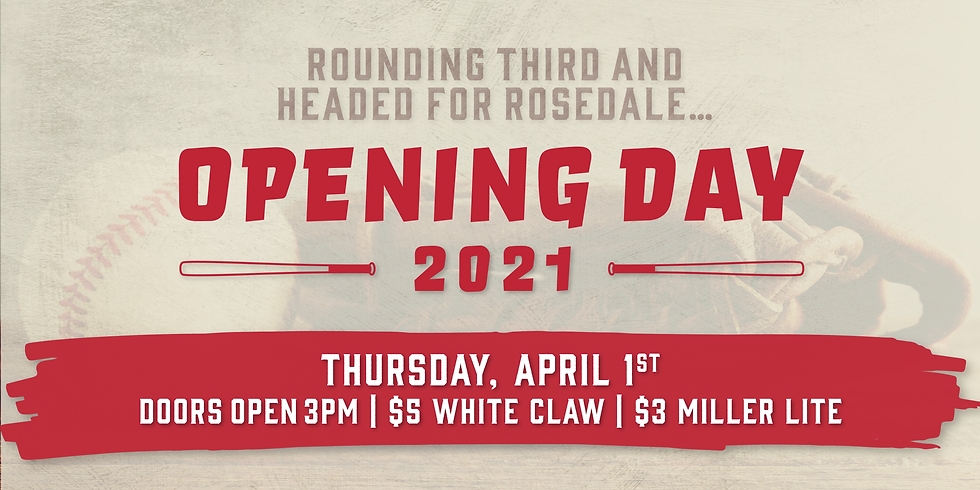 Opening Day at Rosedale