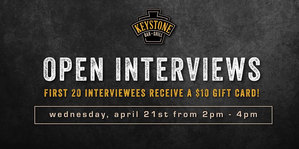 Open Interviews