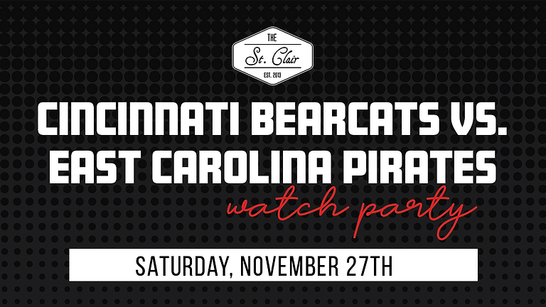 UC Bearcats vs. East Carolina Pirates Watch Party