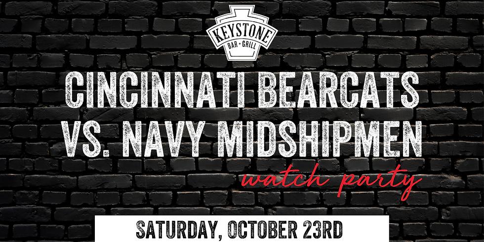 UC Bearcats vs. Navy Midshipmen Watch Party