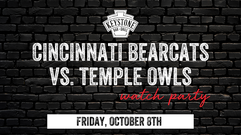 UC Bearcats vs. Temple Owls Watch Party
