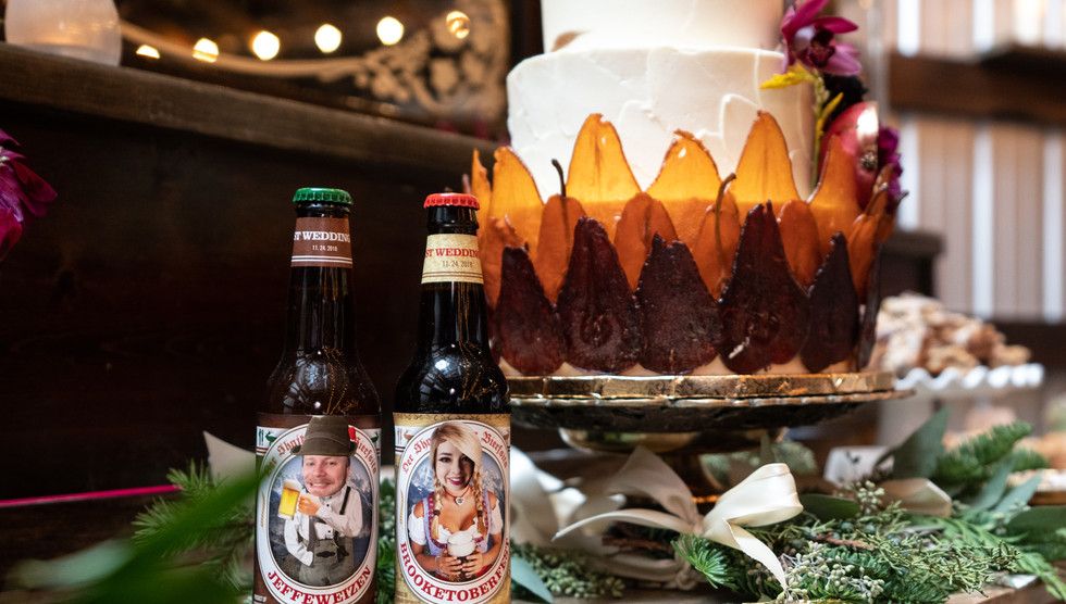 Cake Stand with Custom Beer Labels