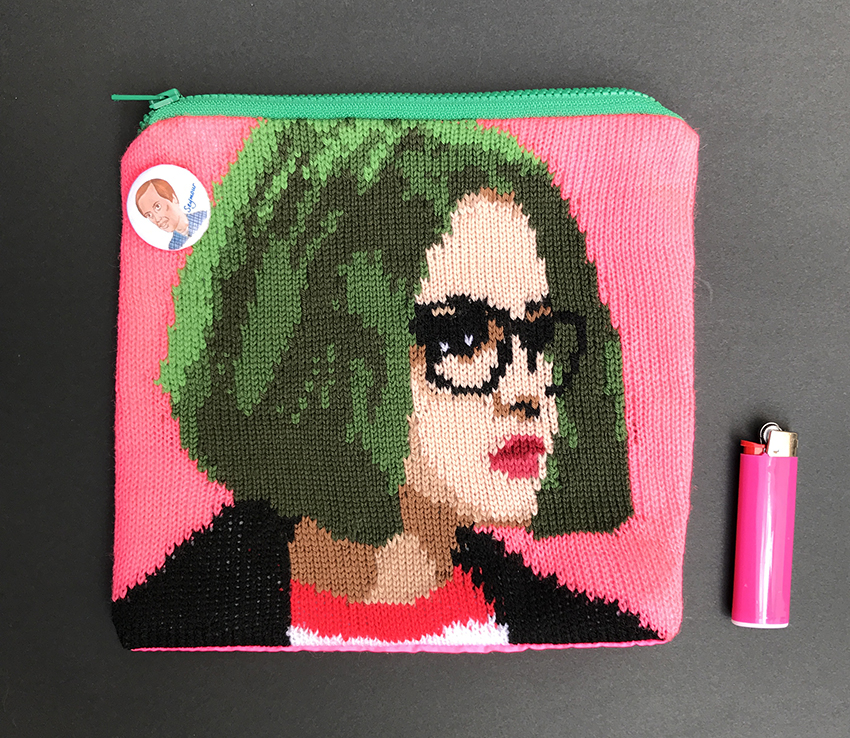 Ghost World / Enid knit pouch