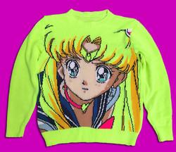 Sailor moon handmade sweater