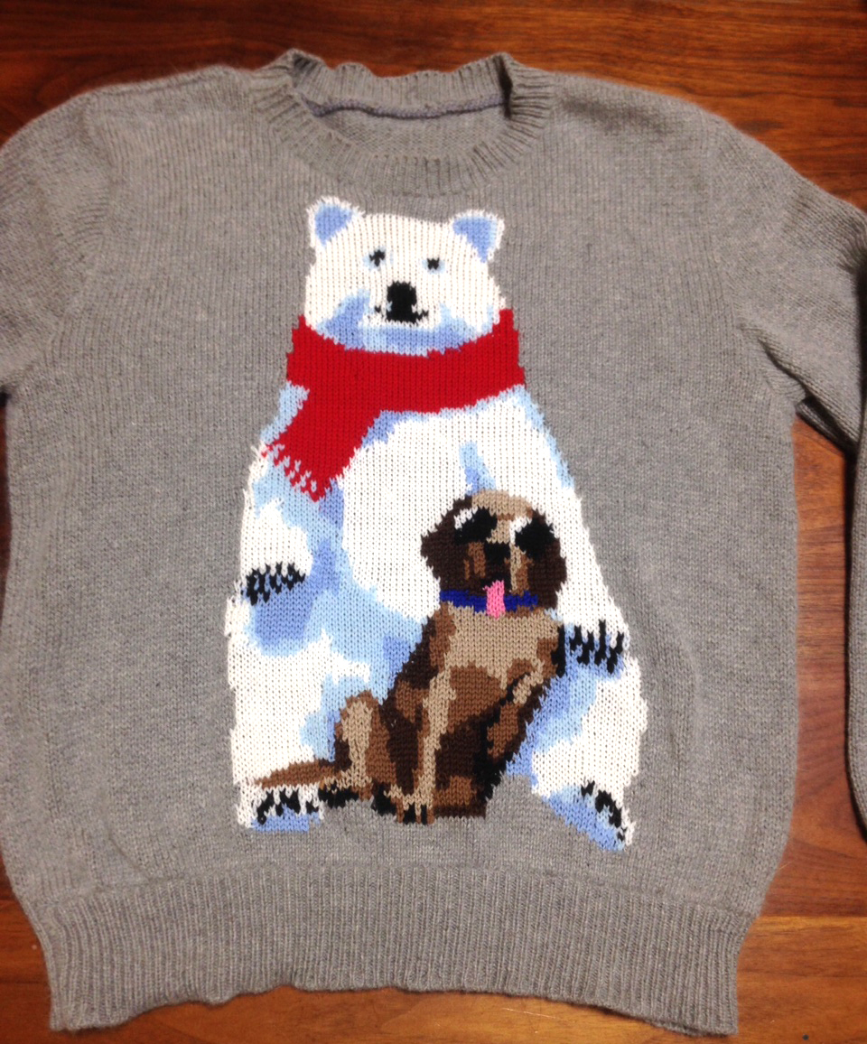 Polar Bear & Dog Sweater