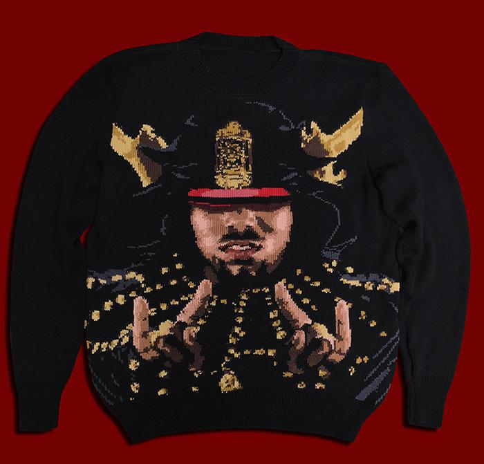 Afrika Bambaataa handmade sweater