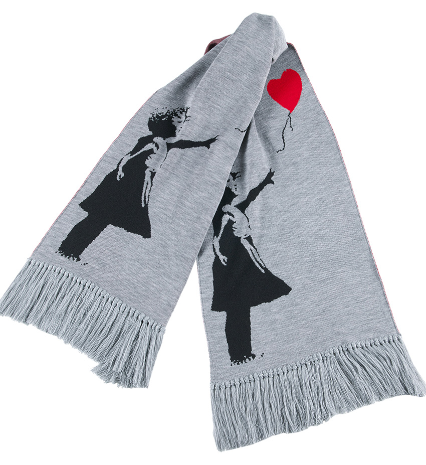 "KNIT SCARF ""GIRL WITH BALLOON"""