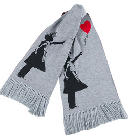 """KNIT SCARF """"GIRL WITH BALLOON"""""""