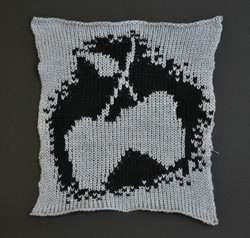 Silver Apples Knit Patch