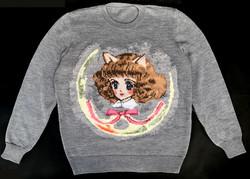 Chibi-neko handmade sweater