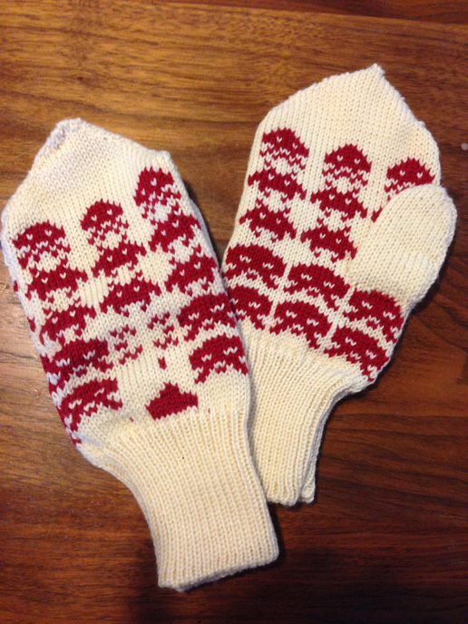 Space Invaders Mitten