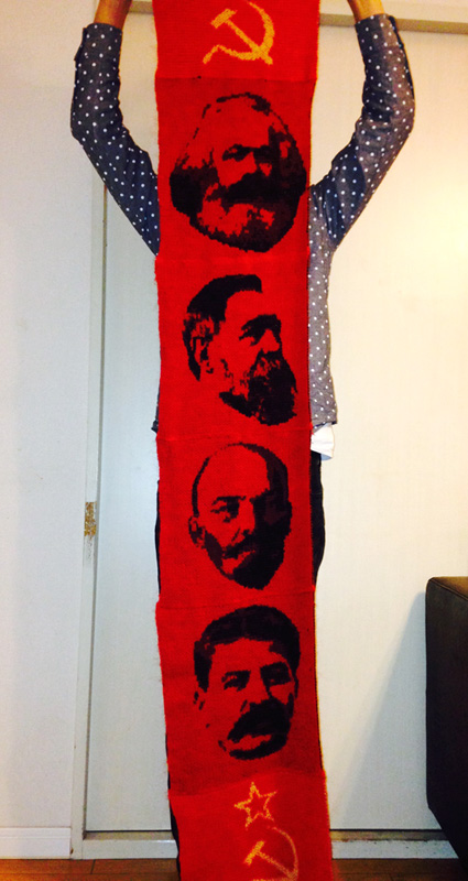 The Soviet Union scarf