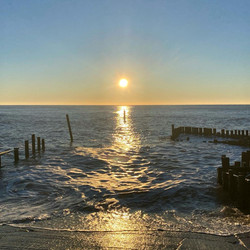Sunrise winter swim