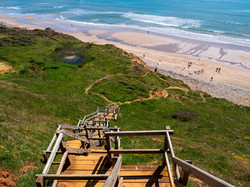 Steps Lead Down To Compton Beach On The
