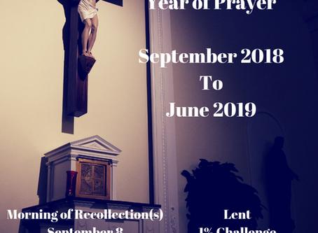 Year of Prayer Recap