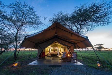 Serengeti Sametu Camp Tent Outside View