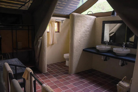 Sangaiwe Tented Lodge Bathroom