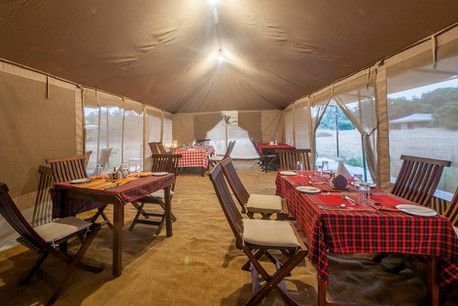 Acacia Migration Camp Dining Area