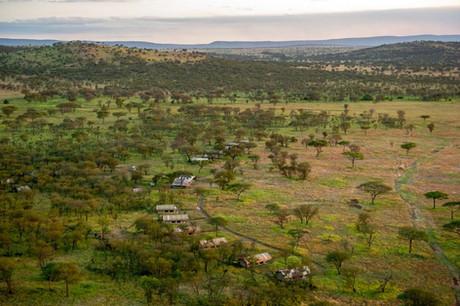 Kati Kati Tented Camp - Aerial View