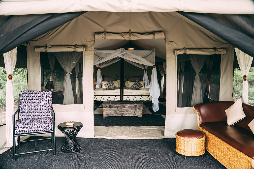 Lake Manyara Tortilis Camp Outisde Tent