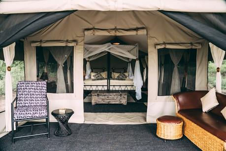 Lake Manyara Tortilis Camp Outisde Tent