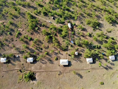 Into Wild Africa Camp Aerial View