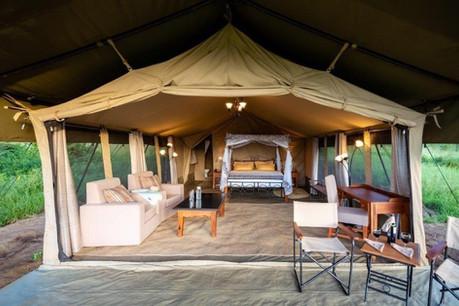 Serengeti River Camp Tent Outisde