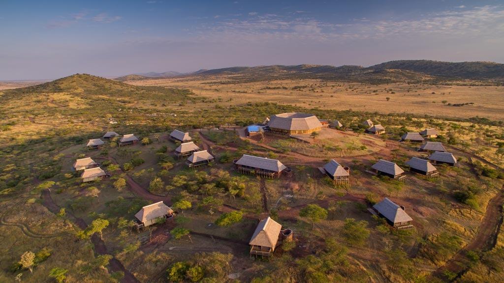 Lahia Tented Lodge Aerial View