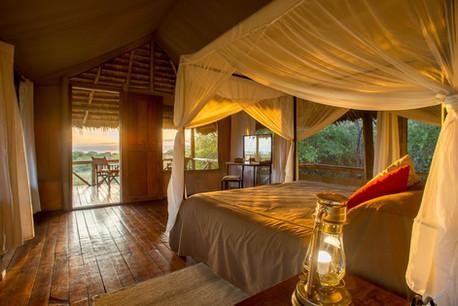 Burunge Tented Lodge Bedroom View