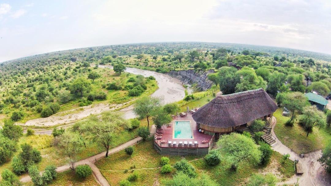 Mbali Mbali Tarangire River Camp Aerial View