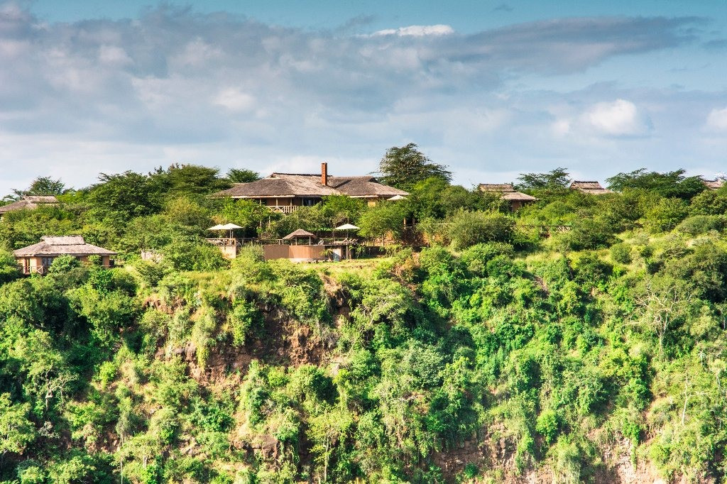 Escarpment Luxury Lodge Drone View