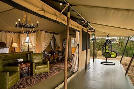Ole Serai Luxury Camp - Turner Springs - Tent Outside
