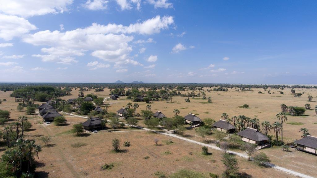 Maramboi Tented Lodge Aerial View