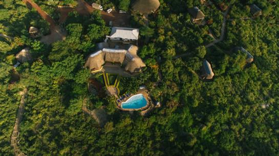 Manyara Wildlife Safari Camp Aerial View