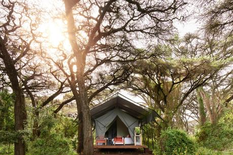 Sanctuary Ngorongoro Crater Camp - Tent Outside