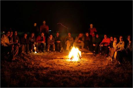 Kananga Special Tented Camp - Fireplace