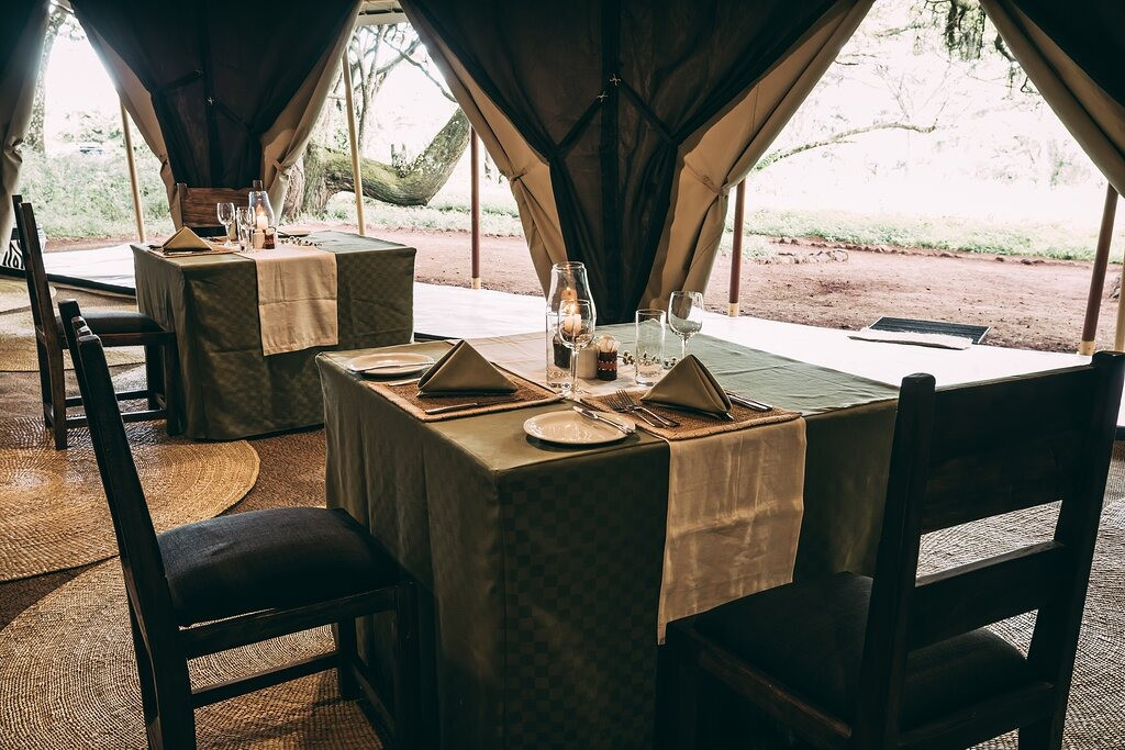 Lake Manyara Tortilis Camp Dining Area