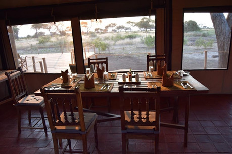 Tarangire Simba Lodge Dining Area