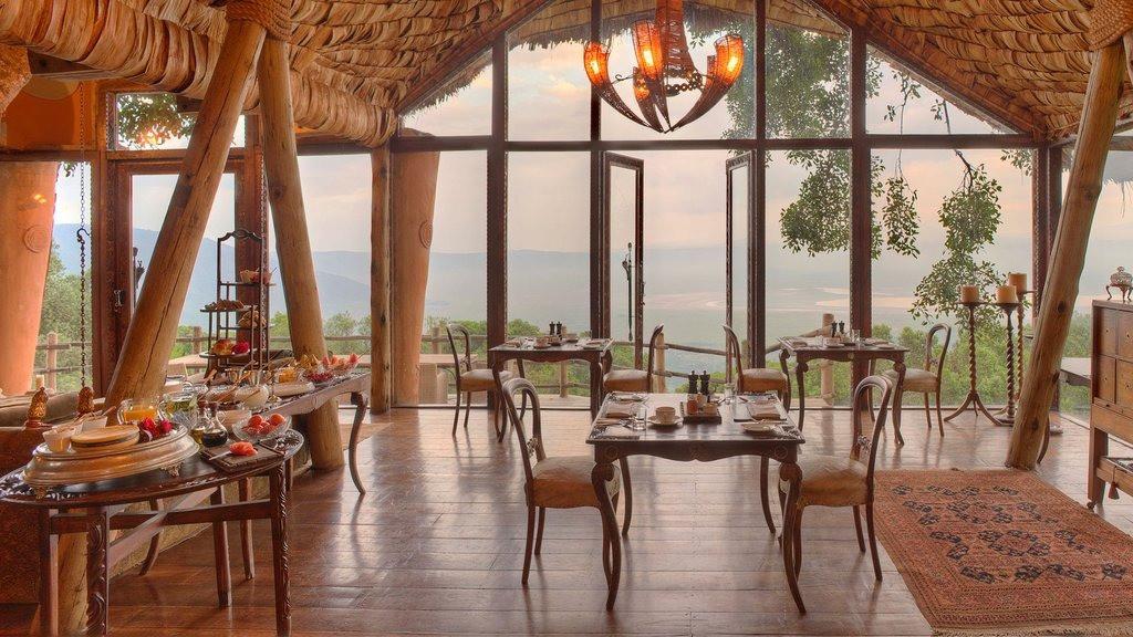 andBeyond Ngorongoro Crater Lodge Dining Area