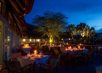 Maramboi Tented Lodge Dining Area