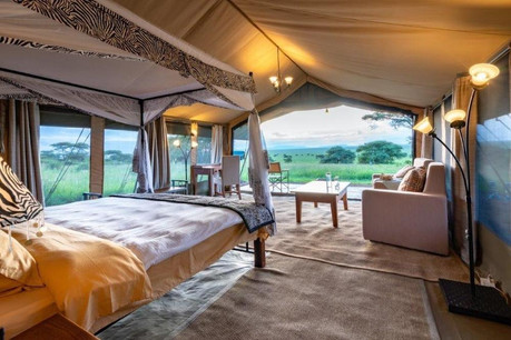 Serengeti River Camp Inside Tent